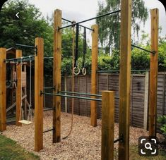 Shade Garden Design Variation on our # Backyard Jungle Gym, Backyard Playset, Backyard For Kids, Backyard Ideas, Home Gym Garage, Diy Home Gym, Diy Playground, Calisthenics Gym, Home Gym Design