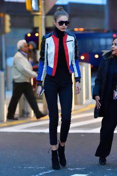Gigi Hadid & Bella Hadid Fashion, Gigi Hadid leaving JFK Airport in New York City,...