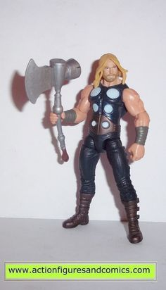 Hasbro toys action figures for sale to buy MARVEL UNIVERSE / AVENGERS ULTIMATE THOR battle hammer condition: Excellent - display only figure size: 3 3/4 - 4 inches ------------------------------------