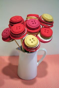 Cookie button bouquet