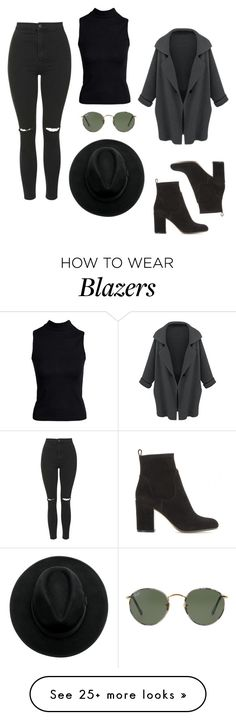 """""""Sin título #223"""" by dani-93 on Polyvore featuring Topshop, Gianvito Rossi, Boohoo and Ray-Ban"""