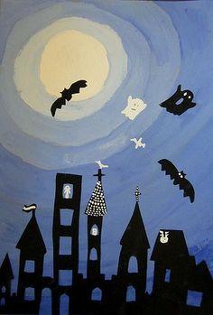 - halloween art - - (notitle) halloween art halloween art ideas halloween *************** Source by griemersma ************ - Halloween Kunst, Halloween Art Projects, Theme Halloween, Fall Art Projects, School Art Projects, Haunted Halloween, Art Plastique Halloween, Club D'art, Arte Elemental