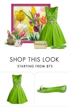 """""""Spring Fashion--I cannot wait"""" by barebear1965 ❤ liked on Polyvore featuring Notte by Marchesa, Kate Spade and Buti"""