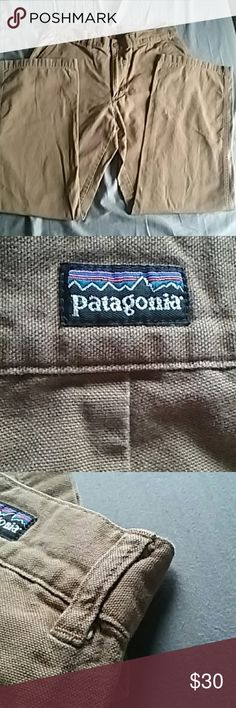 "Patagonia 33x30 cotton pants Inseam 30"" Waist 33""  Thigh 11"" Knee 9.5"" Ankle 8.5""  Bought new and wore a handful of times. Outgrew it to a 34"" waist. Patagonia  Pants Chinos & Khakis"