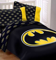 Stunning Trendy Home Theater Design Ideas With Batman Themed To Have Luxury Comforter Sets Queen, Luxury Bedding, Modern Bedding, King Comforter, Cama Do Batman, Batman Bedroom, Batman Room Decor, Batman Love, Batman Stuff