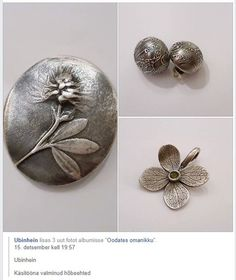 Ubinhein - hõbeehted by Minest Brooch, Floral, Rings, Flowers, Facebook, Jewelry, Fashion, Moda, Jewlery