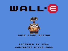 8-bit title screen for Walle