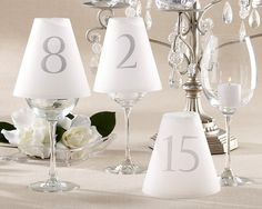 Vellum luminaries using wine glasses