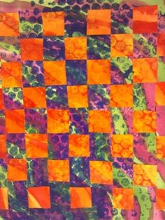 Warm and cool color paper weavings