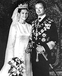 Silvia Sommerlath and King Carl Gustaf XVI of Sweden 1976
