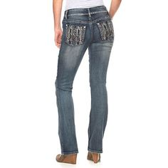Women's Apt. 9 Embellished Bootcut Jeans