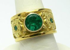 Magnificent 1.10tcw Colombian Emerald & 18k by JRColombianEmeralds, $8520.00