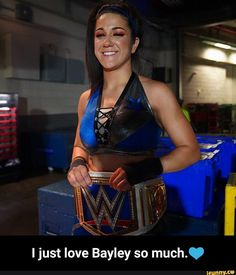 I just love Bayley so much. - I just love Bayley so much. Best Wwe Wrestlers, Cameron Bicondova, Bailey Wwe, Pamela Rose Martinez, Jake Paul Team 10, Wwe Sasha Banks, Wwe Girls, Wwe Champions, Funny Memes About Girls