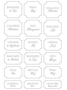 all purpose storage pantry labels