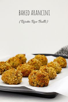 Risotto balls are so easy to make and are perfect for baby-led weaning. This recipe is a great way to use up any leftover risotto.