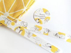 Happy Animals Happy Animal Paper Tape - Miss Branches - Washi Tapes Like Animals, Happy Animals, Paper Tape, My Favorite Things, Pets, Day, Washi Tapes, Yellow, Animals And Pets