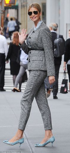 Suiting up: Ivanka Trump cut a stylish figure as she stepped out in her hometown of New York City on Wednesday morning
