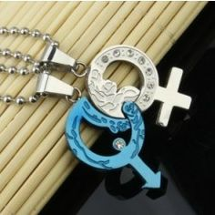 Korean Style Personalized Titanium Steel Lovers' Necklaces (Price For a Pair) - USD $49.95