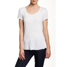 Velvet By Graham & Spencer Sequin Jersey Tee ($40) ❤ liked on Polyvore