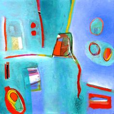 """Linda O'Neill :: """"Light As Air"""" acrylic and collage on canvas"""