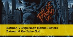Batman V Superman Mondo Posters: Batman