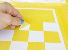 diy home sweet home: How to Make a Checkerboard Table