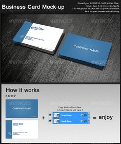 Business Card Mockup — Photoshop PSD #business card #perspective • Available here → https://graphicriver.net/item/business-card-mockup/129902?ref=pxcr