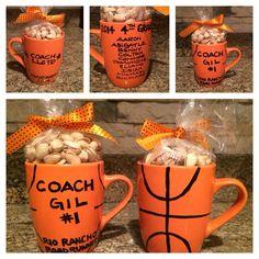 basketball coach team signature print basketball coach team gift