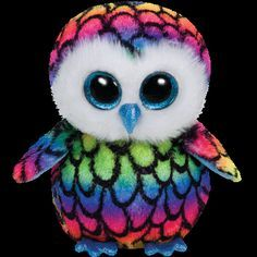 this is Aria she is a rainbow owl her birthday is November 15!The poem on hr tag is- You cant miss me when I take flight Because my colors are bold and bright!