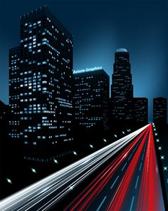 How to Create a Night City Illustration Using Adobe Illustrator and Phantasm CS  In this tutorial we will learn how to create a night city and glow of lights on the highway using the Adobe Illustrator CS5 Perspective Grid Tool, Blend Tool, 3D modeling and Phantasm CS. This tutorial is filled with professional and creative instructions.