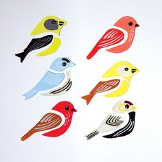 GelWonder | Window Clings | Large Bag of Song Birds | Birds | Can be used on any non-porous surface | www.homearama.co.uk