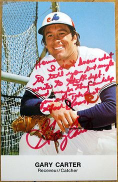 1980 autograph/signed baseball #postcard: montreal #expos, gary #carter,  View more on the LINK: http://www.zeppy.io/product/gb/2/371605078271/