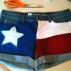 Made my own Texas shorts! DIY<3