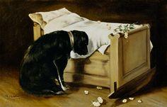 ArtistaA. Archer (fl.1860 - 70) Estilo artísitico Cuadros no registrados Obra Dog Mourning Its Little Master(1866) Ubicación: City of Edinburgh Museums and Art Galleries