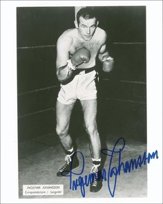 "Jens Ingemar Johansson (September 22, 1932 – January 30, 2009) was a Swedish boxer and former heavyweight champion of the world. Johansson was the fifth heavyweight champion born outside the United States. In 1959 he defeated Floyd Patterson by TKO in the third round, after flooring Patterson seven times in that round, to win the World Heavyweight Championship. As a result, Johansson won the Hickok Belt as top professional athlete of the year and was named the Associated Press Male Athlete of the Year and Sports Illustrated magazine's ""Sportsman of the Year"".  Johansson enjoyed a successful career as a heavyweight. When he retired in 1963 he had a record of 26 wins, 17 by KO, and only 2 losses. He called his right fist ""toonder and lightning"" for its concussive power (it was also called ""Ingo's Bingo"" and the ""Hammer of Thor""), and in 2003 he was ranked at #99 on The Ring's list of 100 greatest punchers of all time."