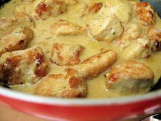 Chicken in Mustard Sauce Chicken Salad With Grapes, Pecan Chicken Salads, Chicken Salad Recipes, Easy Healthy Recipes, Healthy Cooking, Cooking Recipes, Chicken Cauliflower Casserole, Best Guacamole Recipe, Grape Recipes