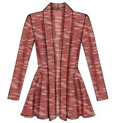 McCalls M6844 Cardigan with or without peplum