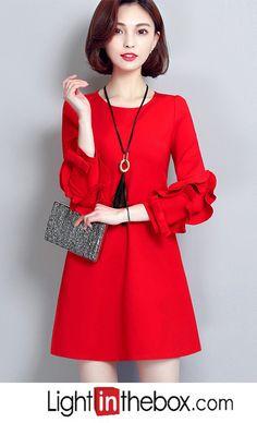 Women s Party Daily A Line Loose Dress A Line Dress Work e27ec25a6
