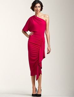 Talbots pink assymetrical cocktail dress