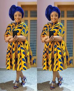 Classy and Beautiful Ankara Short Gown Styles in 2019 - Naija's Daily Unique Ankara Styles, Beautiful Ankara Styles, Ankara Short Gown Styles, Short Gowns, Ankara Clothing, Ankara Gowns, Clothing Styles, South African Traditional Dresses, Ankara Stil