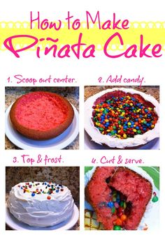 Love the Candy-Filled Piñata Cake trend? Here's how to make one! http://thestir.cafemom.com/food_party/153099/candyfilled_pinata_cake_recipe_thats?utm_source=pinterest