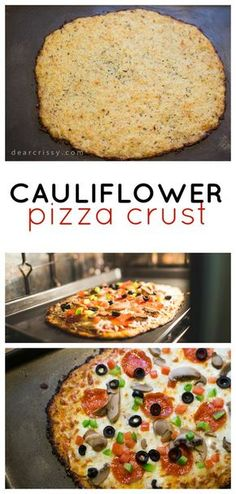 Great Cauliflower Pizza Crust Recipe – This delicious cauliflower pizza crust recipe is easy to make and so much healthier than regular pizza dough. The post Cauliflower Pizza Crust appeared first on Kiynos Recipes . Low Carb Recipes, Vegetarian Recipes, Tofu Recipes, Mexican Recipes, Healthy Pizza Recipes, Whole30 Recipes, Heathy Pizza, Healthy Cauliflower Recipes, Healthy Pizza Dough