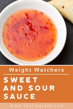 Weight Watchers Chinese Sweet & Sour Sauce Recipe. A quick and easy, classic, Asian sauce made with sugar, vinegar, water, soy sauce, ketchup, and cornstarch. Ready in 12 minutes. Low calorie, Fat Free, and Gluten Free. MyWW Points: 2 Green plan, 2 Smart Points. Weight Watchers Vegetarian, Weight Watchers Meals, Ww Recipes, Sauce Recipes, Healthy Recipes, Sweet And Sour Sauce Recipe Chinese, Weightwatchers Recipes, Vegan Sauces, Us Foods