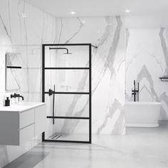 Lusso Industrial Style Matte Black Shower Screen (All sizes)