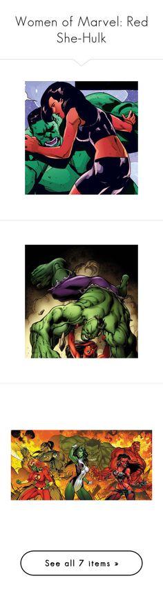 """Women of Marvel: Red She-Hulk"" by megiem ❤ liked on Polyvore"