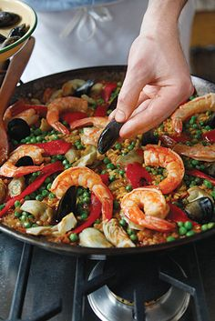 Seafood paella. Best one I had was in the oldest restaurant in Barcelona, Can Culleretes.
