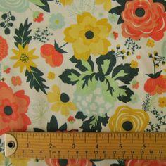 Riley Blake Fancy And Fabulous Fabulous Main Cream Cotton Fabric - Guthrie & Ghani