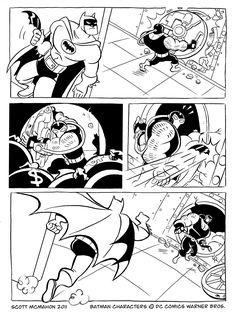 Batman Vs Bane Colouring Page Comic Strip
