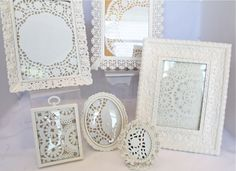 If you have frames for sale, try filling them with paper doilies...