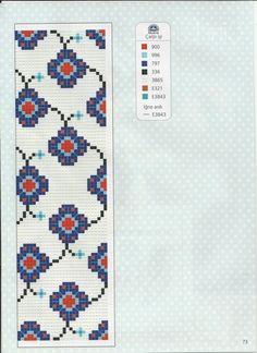 Biscornu Cross Stitch, Cross Stitch Bookmarks, Cross Stitch Borders, Cross Stitch Flowers, Cross Stitch Designs, Cross Stitch Embroidery, Cross Stitch Patterns, Polymer Clay Flowers, Beading Patterns